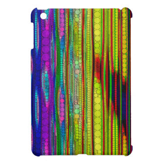 Trippy Florescent striped abstract iPad Mini Cover