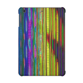 Trippy Florescent striped abstract iPad Mini Retina Cover