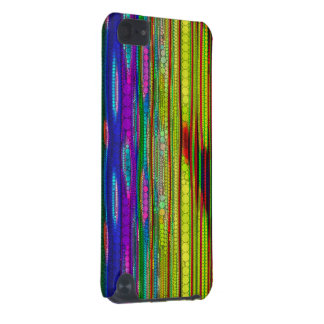 Trippy Florescent striped abstract iPod Touch 5G Case