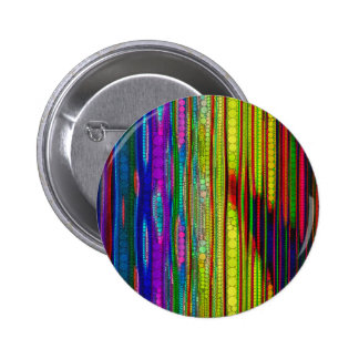 Trippy Florescent striped abstract Pinback Button