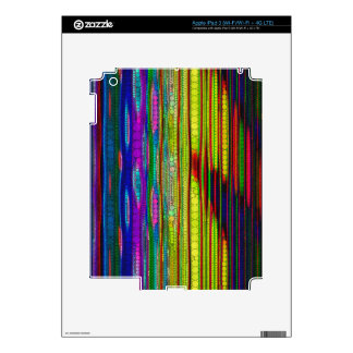 Trippy Florescent striped abstract Skin For iPad 3