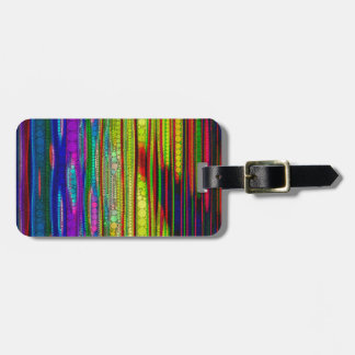 Trippy Florescent striped abstract Tag For Luggage