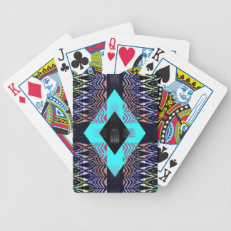 Trippy Florescent Turquoise Zebra Abstract Bicycle Playing Cards