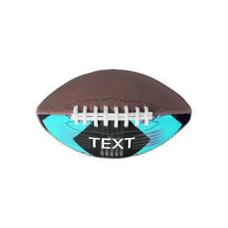 Trippy Florescent Turquoise Zebra Abstract Football
