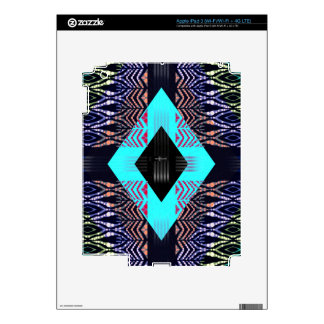 Trippy Florescent Turquoise Zebra Abstract iPad 3 Decal