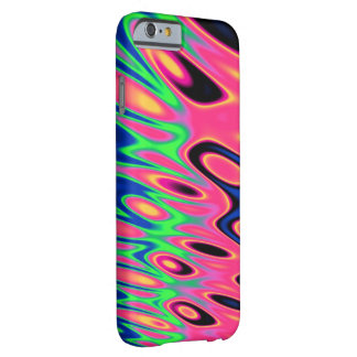 Trippy Florescent Twirls Barely There iPhone 6 Case