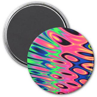 Trippy Florescent Twirls Magnet