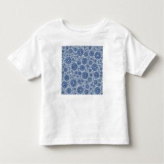 trippy foral blue (c) toddler t-shirt