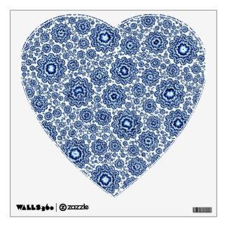 trippy foral blue (c) wall sticker