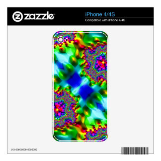 Trippy Fractal Abstract Decal For iPhone 4