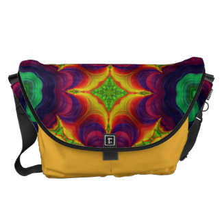 Trippy Fractal Art Courier Bags