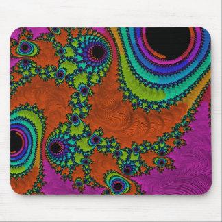 Trippy Fractal Art Mouse Pad