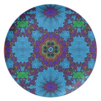 Trippy  Fractal Art Plate