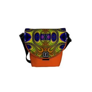 Trippy Fractal Art Rickshaw Messenger Mini Bag Courier Bags