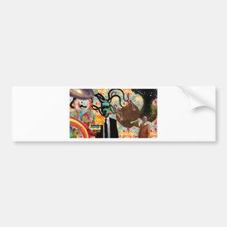 Trippy Frankenstein Art Bumper Sticker