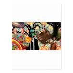 Trippy Frankenstein Art Post Card