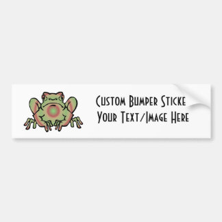 Trippy Frog Bumper Sticker