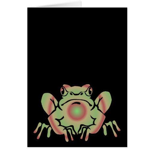 Trippy Frog Card