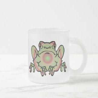Trippy Frog Frosted Glass Coffee Mug