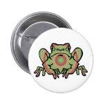 Trippy Frog Pinback Button