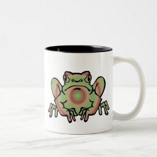Trippy Frog Two-Tone Coffee Mug