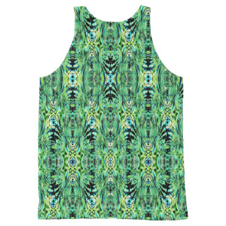 Trippy Green All-Over Print Tank Top