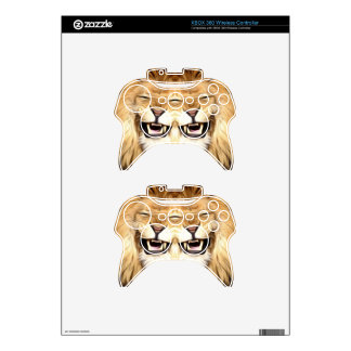 Trippy Happy Lion Xbox 360 Controller Decal