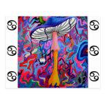 Trippy Hippy Mushroom Postcard