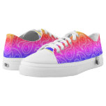 Trippy Hippy Retro Paisley Low-Top Sneakers