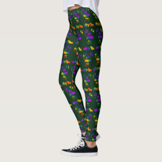 Trippy Holly Canes Leggings