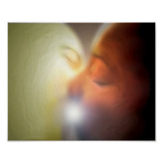 trippy kissing poster
