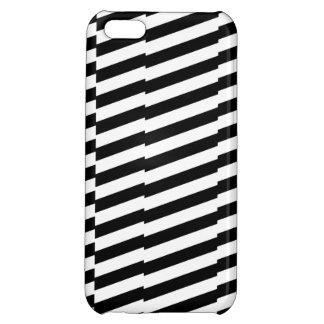 Trippy Lines Black & White iPhone 5C case