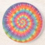 Trippy Little Swirl Tie Dye PhatDyes Coaster