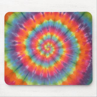 Trippy Little Swirl Tie Dye PhatDyes Mouse Pad