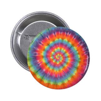 Trippy Little Swirl Tie Dye PhatDyes Pinback Button