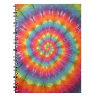 Trippy Little Swirl Tie Dye PhatDyes Spiral Notebook