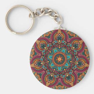 "Trippy Mandala 2.25"" Basic Button Keychain"