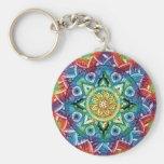 Trippy Mandala Basic Round Button Keychain