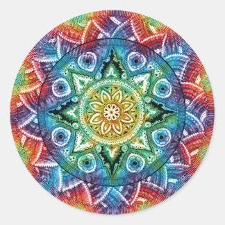 Trippy Mandala Classic Round Sticker