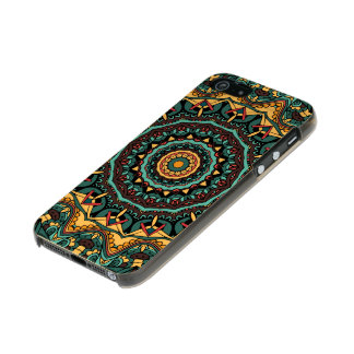 Trippy Mandala iPhone 5/5s Feather® Shine, Gold Metallic iPhone SE/5/5s Case