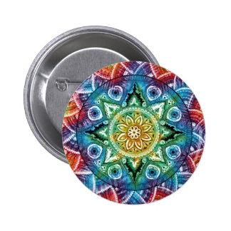 Trippy Mandala Pinback Button