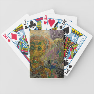 Trippy Multi-Media Skin Bicycle Playing Cards