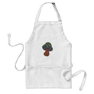 trippy mushroom adult apron