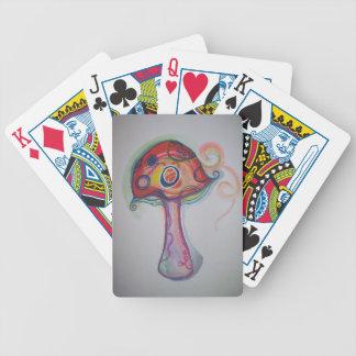 Trippy Mushroom Playing Cards