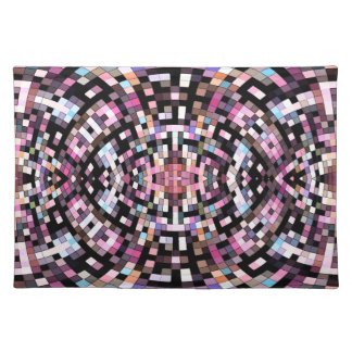 Trippy Pink and Black Geometric Place Mat