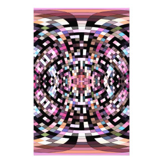 Trippy Pink and Black Geometric Stationery