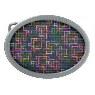 Trippy Pixel Art Belt Buckle