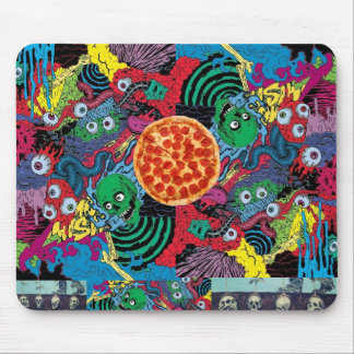 trippy pizza munchy monsters mushroom gift mouse pad