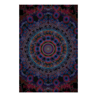 Trippy Poster: Abstract Radial Artwork Poster