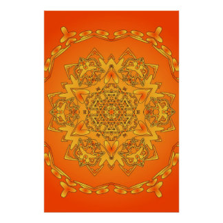 Trippy Poster: Psychedelic Hexagonal Artwork Poster